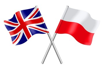 Flags: United Kingdom and Poland
