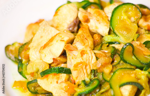 chicken fillet with zucchini