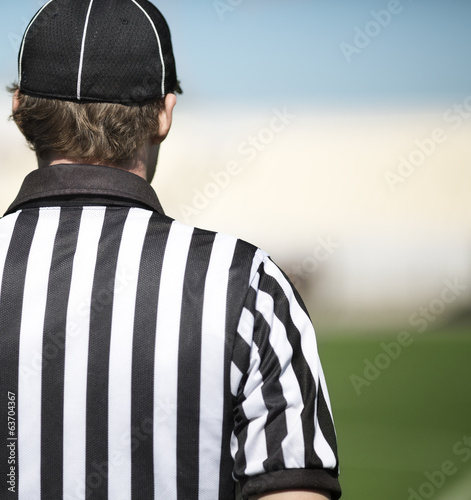 canvas print picture American football referee in close up