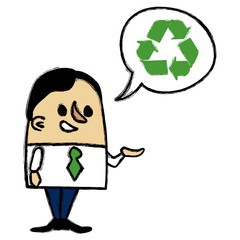 Recycling Businessman