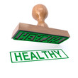 3d Healthy stamp