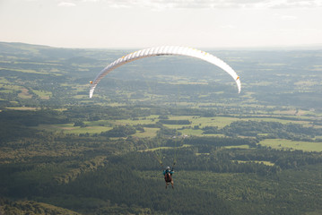 Glider in the Puy-de-Dôme, Auvergne, France