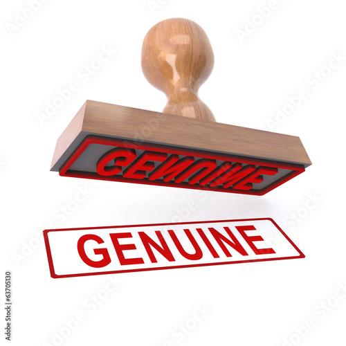 3d Genuine stamp