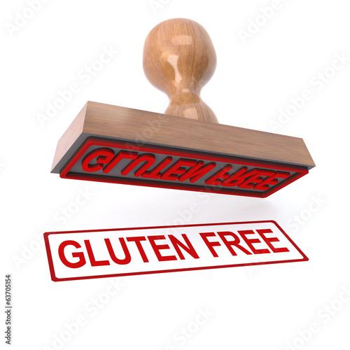 3d Gluten free stamp