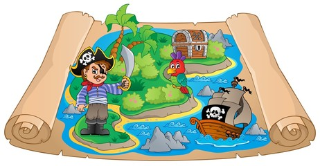 Pirate map theme image 4