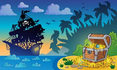 Pirate theme with treasure chest 5