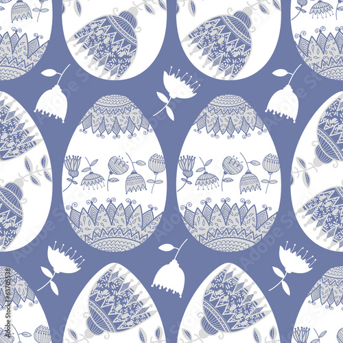 Cotton fabric Easter eggs