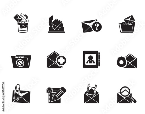 Silhouette E-mail and Message Icons