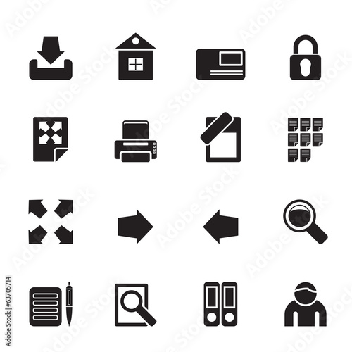 Silhouette Internet and Web Site Icons
