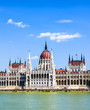 famous parliament of Hungary in Budapest