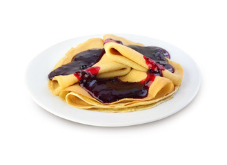 Crepes with confiture