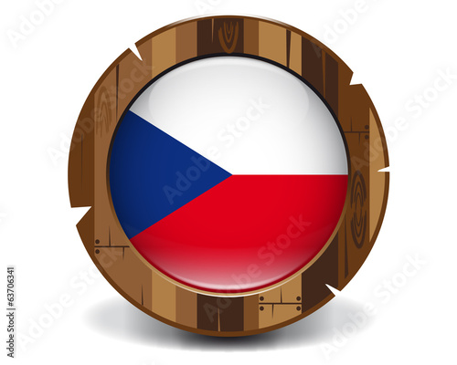 Czech republic wood button