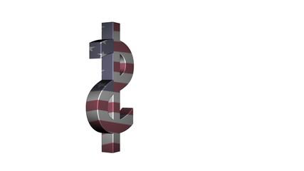 USA Dollar Flag Reflection