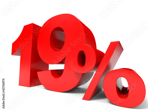 Red nineteen percent off. Discount 19%.