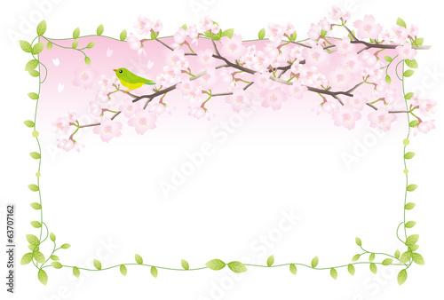 桜とうぐいすのフレーム