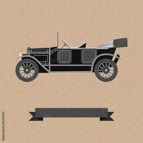 background with an old car