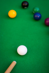 Billiard or pool game situation