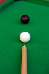 Billiard or pool game winning shot