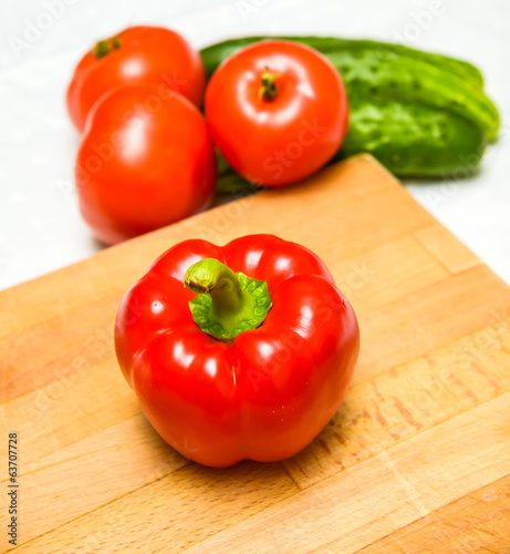 Bulgarian pepper red