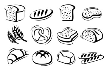 bread icon set