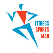 Fitness Sports Man - running man - vector logo sign