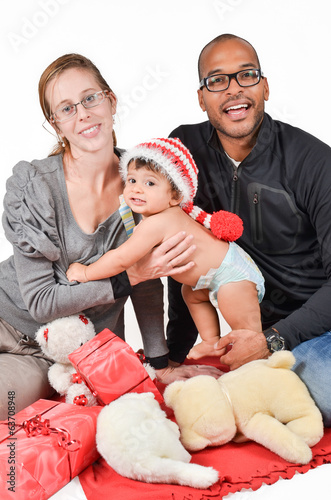 Happy family for christmas