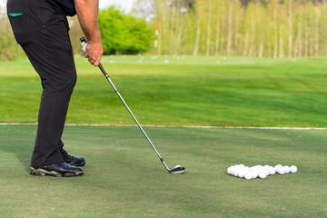 lehrstunde beim golfen