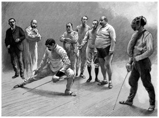 Fencers - Escrimeurs - end 19th century