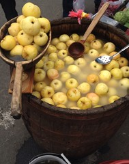 a barrel of apples