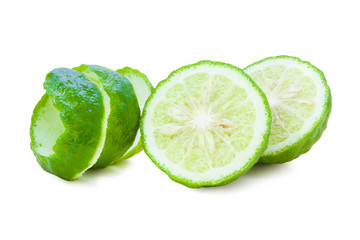 Kaffir Limes twist and sliced