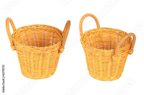 Set of Baskets. Isolated on white