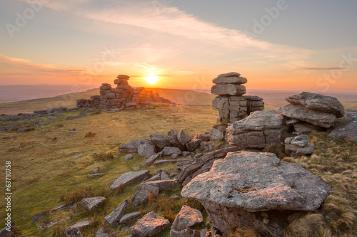 Great Staple Tor Dartmoor Devon Uk