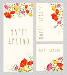 Spring invitation card set