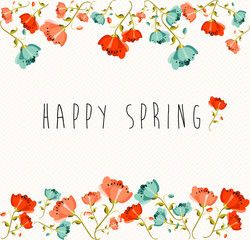 Happy Spring flower composition