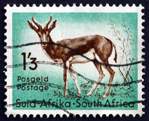 Postage stamp South Africa 1954 Springbok, Antelope