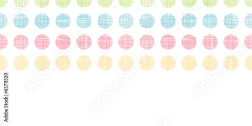 Abstract textile polka dots stripes horizontal seamless pattern