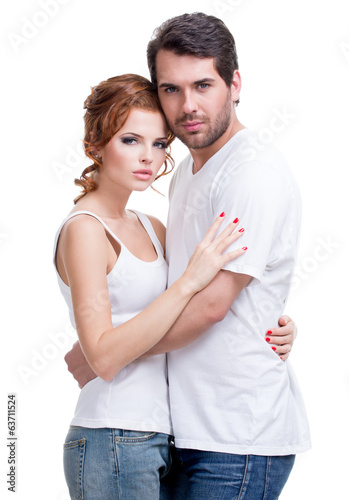 Portrait of beautiful attractive happy couple.