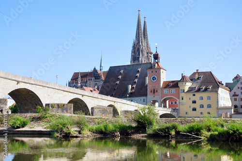 The Cathedral and the city of Regensburg, Germany, Europe