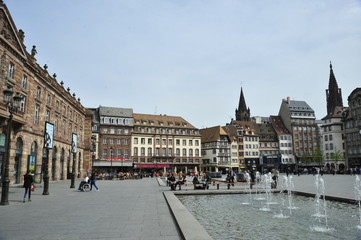 Kleber square in Strasbourg, France