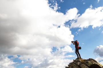 Fotografo in montagna
