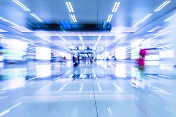 rail station.Motion blur