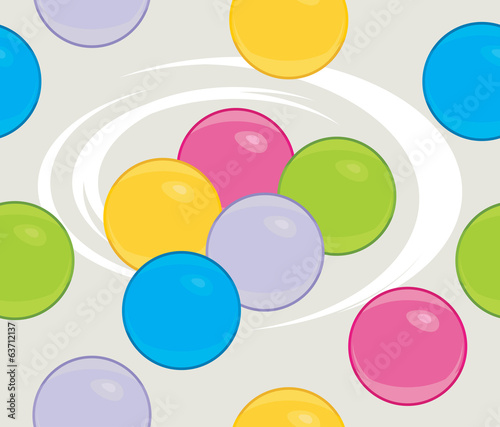 Colored balls. Seamless background