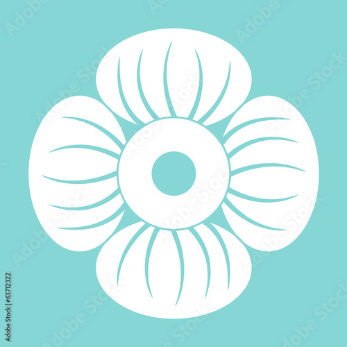 vector illustrator of icon flower