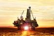 Leinwanddruck Bild - gas production on the sea