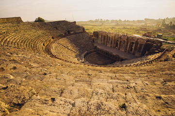 turkish amphitheater ruins