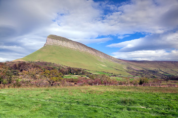 Benbulben, irish rural landscape