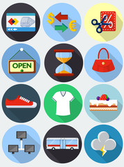Flat Icons with long shadow set 2