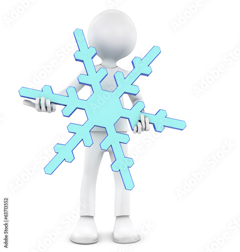 Person hold snowflake