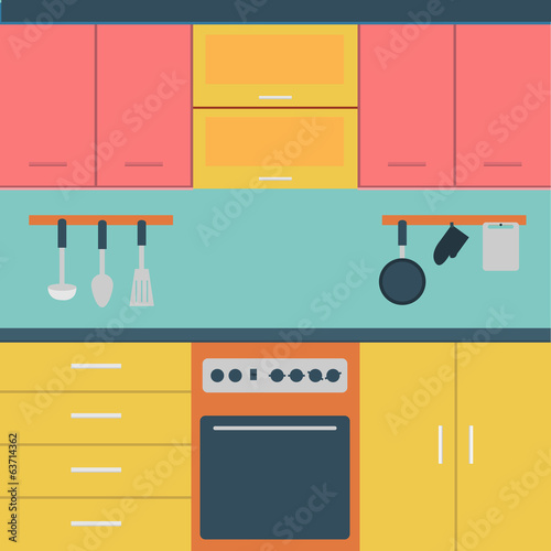 Vector of white Kitchen