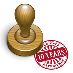 10 years experience grunge rubber stamp